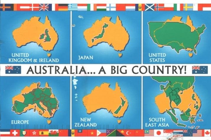 AUSTRALIA SIZE