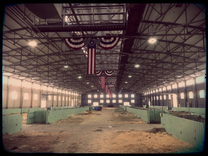 Empty barn at a livestock show