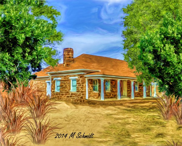 1866fortharkerofficersquarters10july2014painting_by_mschmidtphotography-d95e05o