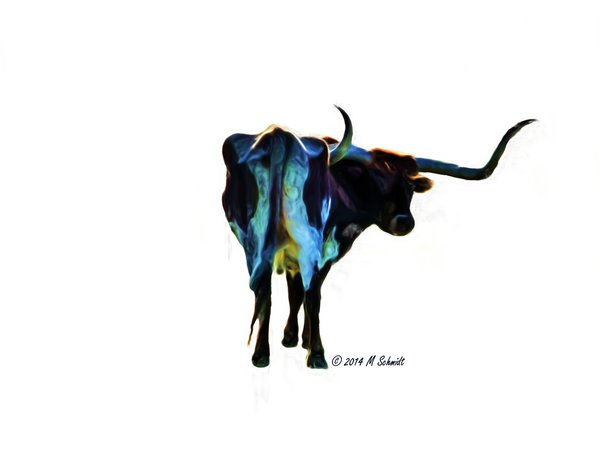 psychedelic_longhorn_14april2014_painting_by_mschmidtphotography-d7gi82q